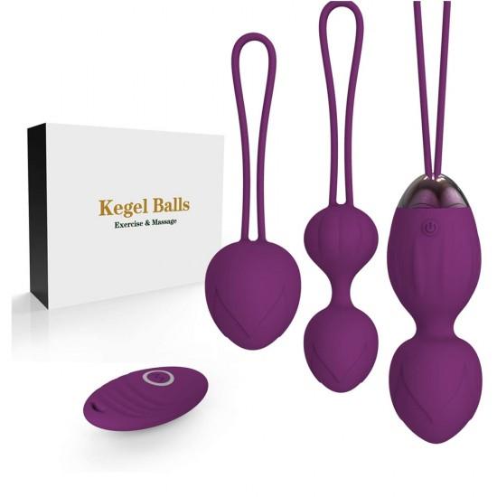 2 in 1 Kegel Balls Ben Wa Balls Sets Women Pelvic Exercise Ball Tightening Women Pelvic Floor Strengthening