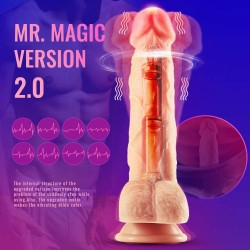 "8.3"" Vibrating Dildo Realistic Dildo Rotation Heating Wireless India Sex Toy"