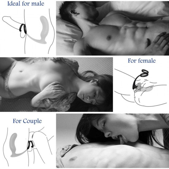 Anal Vibrator Male Vibrator With Penis Ring 9 Vibration Mode Wireless Remote Controlled Anal Sex Toy India