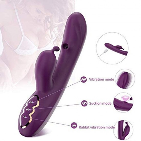 G Spot Vibrator with Clitoral Sucking Dual Motor 7 Vibration 7 Suction Modes Waterproof Sex Toy For Women India