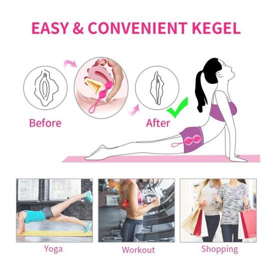 Kegel Balls Ben Wa Balls India For Women Tightening 3 Piece Set Kegel Exercise Ball Pelvic Floor Bladder Control Training Remote Control