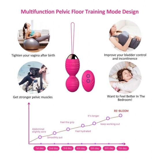 Kegel Balls Ben Wa Balls India Safe Silicone Remote Controlled Tightening Women Pelvic Floor Strengthening