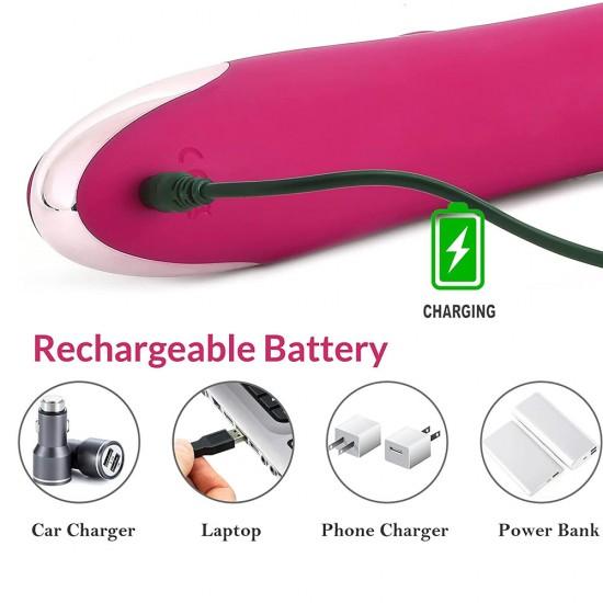 Rabbit Vibrator Thrusting 10 Modes Beaded G Spot Vibrator Clitoral Stimulator Sex Toys for Women India