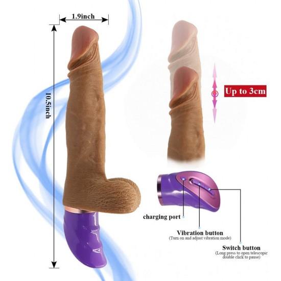 Realistic Vibrator Thrusting Dildos G spot Vibrator Rechareable Sex Toys for Women India