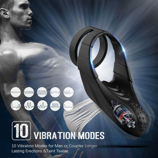 Vibrating Dual Cock Ring India Penis Ring Sex Toys For Male And Couples