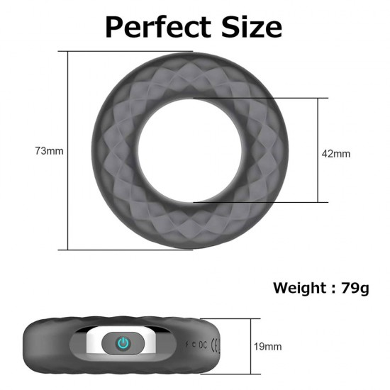 Vibrating Ring Penis Cock Ring 10 Modes Vibration Waterproof Sex Toys India